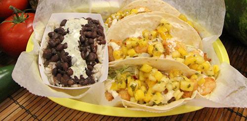 carribean shrimp tacos