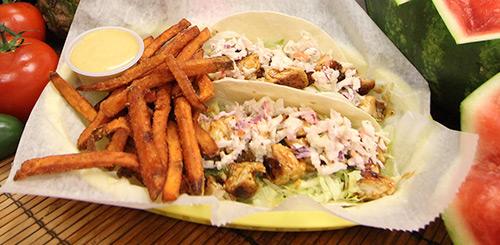 chicken teriaki tacos