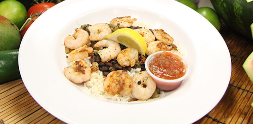 shrimp protein bowl